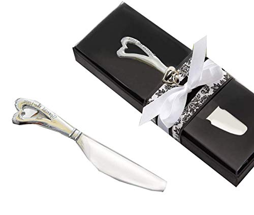 - Kate Aspen Spread The Love Chrome Spreader Knife with Heart Shaped Handle, All Bridal Shower Favors, Wedding Favors, Perfect for Rehearsal Dinner Party and Valentine's Day - Set of 96