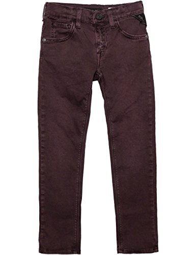 Replay Boys Burgundy Casual Trousers in Size 14 Years Burgundy by Replay