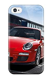 New Premium Flip Case Cover Porsche 911 Gt3 2013 Skin Case For Iphone 4/4s