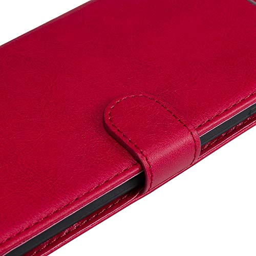 Sony Xperia XA1 Wallet Case, CUSKING Premium Leather Cover with Silicone Inner Case for Sony Xperia XA1 [Card Holder] [Magnetic Closure] [Hand Strap] - Red by CUSKING (Image #6)