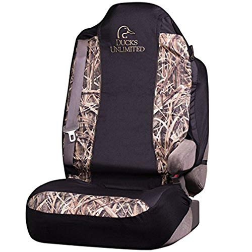 Ducks Unlimited Camo Seat Cover | Shadow Grass Blades | Universal Fit, Shadow Grass Blades, Single
