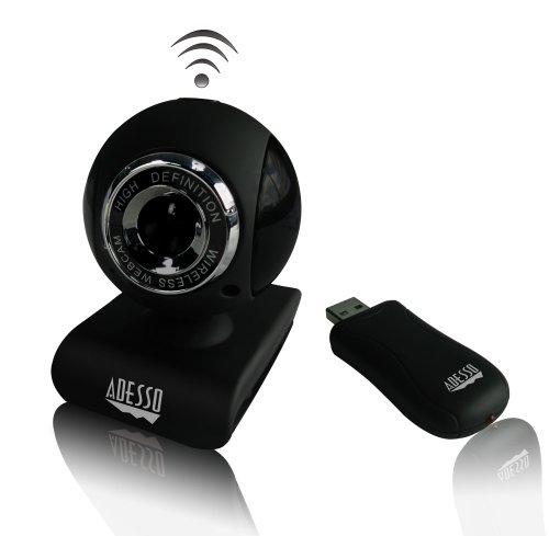 Adesso 2.4 GHz Wireless 1.3 Megapixels Webcam (CyberTrackV10)