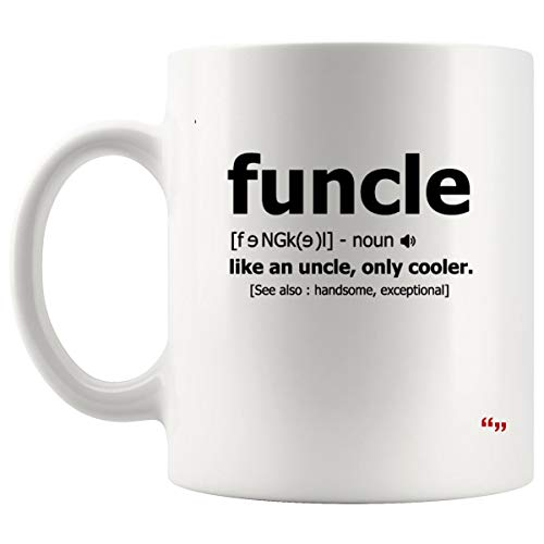 Joke Uncle Mug - Best Uncles Aunt Coffee Cup Funny Uncle Funcle Definition Baseball for Men Father's Day Brother | Funny T-Shirt Gift