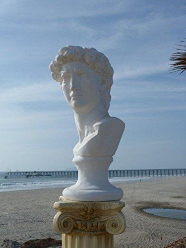 Michelangelo's David Bust Statue Classic Michelangelo Reproduction art deco 24