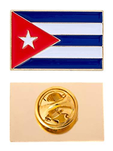 Cuba Country Rectangle Flag Lapel Pin Enamel Made of Metal Souvenir Hat Men Women Patriotic (Rectangle Pin)