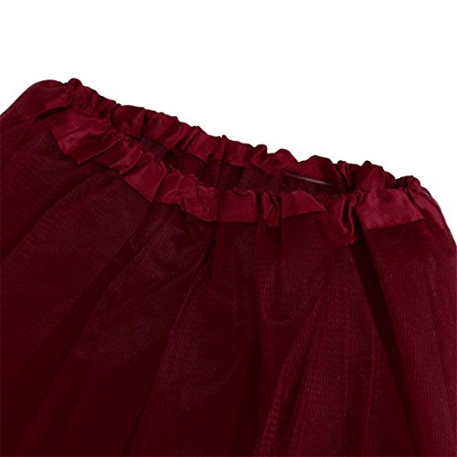 Waist Half Dress Tutu Gauze Skirt mesh Adult TIFENNY Hot Pleated High Wine Mesh Sale Womens Solid Dancing xtZnBwUYq