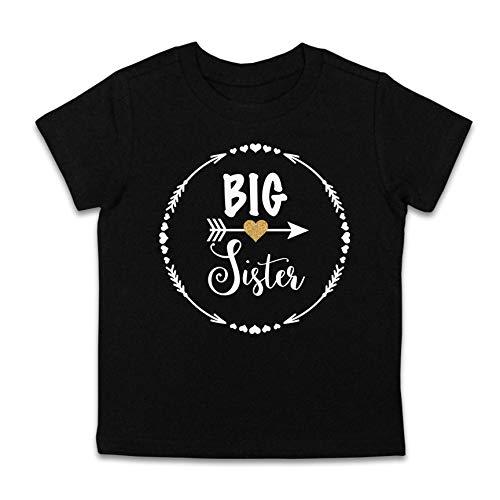 Big Sister Gift/Big Sister Shirt/Big Sister Top (Youth Large 14-16, Black)