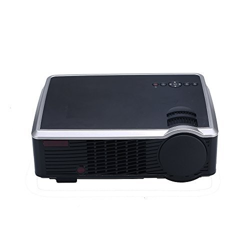 2000 Lumens Video Projector, Dinly LED LCD Full HD 1080P Portable Mini Multimedia Projector HDMI VGA AV USB AUDIO TV for Home Video Movie Bussiness Meeting Black