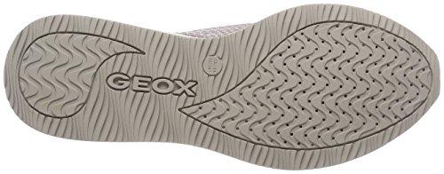 Geox D Omaya C, Scarpe da Ginnastica Basse Donna Beige (Skin/Lt Silver)