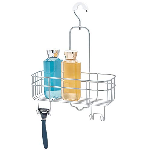 iDesign Euro Metal Hanging Bathroom Shower Caddy with Swivel Hook, Extra Space for Shampoo, Conditioner, Soap, Razors, Loofahs, Towels, 11