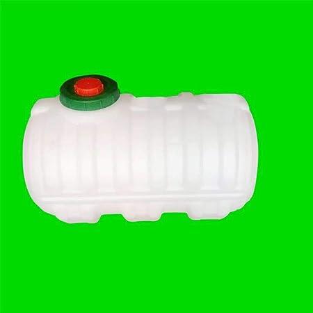 Cubo De Agua - Depósito De Agua - Depósito De Agua En Jardin - Depósito De Agua Camper - Inicio Barril - Espesar 500L Horizontal Plastico Barril - Grado De Comida HDPE Materias Primas: Amazon.es: Hogar