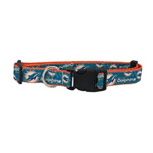 NFL Miami Dolphins Team Pet Ribbon Collar, Large