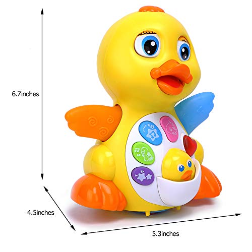 Toyk Kids Toys Musical Duck Toy Lights Action with Adjustable Sound - Toys for 1 2 3 Year Girls and Boys Kids or Toddlers by Toyk (Image #5)