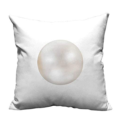 YouXianHome Home DecorCushion Covers Shimmer White Natural Pearl Isolate on White backgroun Comfortable and Breathable(Double-Sided Printing) 31.5x31.5 inch