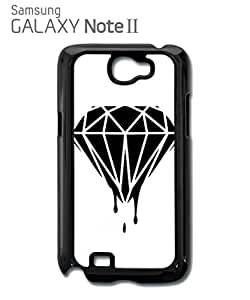 Dripping Plain Diamond Dope Mobile Cell Phone Case Samsung Note 2 White