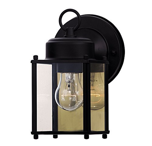 Savoy House 07047-BLK Exterior Collections Wall Mount Lantern by Savoy ()