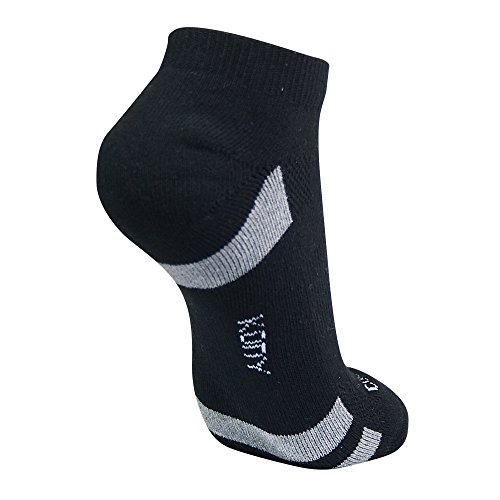 KONY Women's 6 Pack Thick Cotton Cushioned Low Cut Ankle Athletic Socks Air-cross Mesh No Show Running Socks (Black - 6 Pairs) by KONY (Image #3)