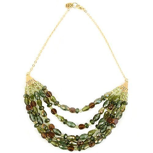 Green Bib Beaded Necklace - Natalie Portman Glasses