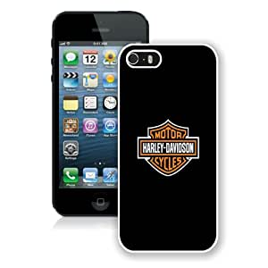Popular Sell Design Harley Davidson iPhone 5 Wallpaper White iPhone 5 5S Protective Phone Case