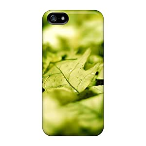 High Quality JackieAchar Green Leafs Skin Case Cover Specially Designed For Iphone - 5/5s