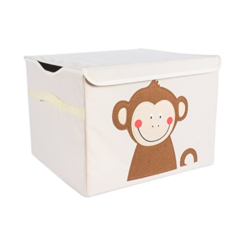 DII Nursery or Playroom Toy Chest with Flip Lid, Use for Storing Anything from Fun Toys, Favorite Blankets, Adventurous Books, & More (17x15x12