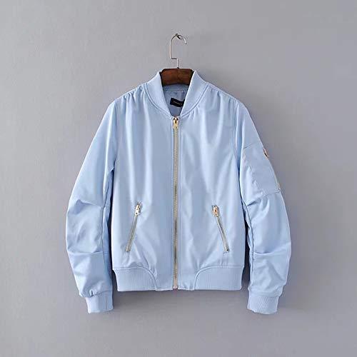 Jacketcappotto Giacca Blue In Volant Giacche Da Autunno Sky Di Pilota Jjhr CqW54wvt