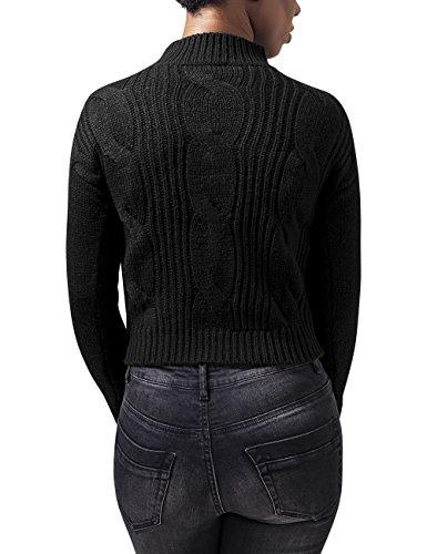 Urban Classics Ladies Short Turtleneck Sweater, Suéter Para Mujer Negro (Black 7)