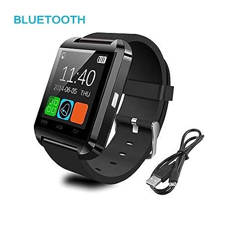 Negro Blanco Rojo Acero + Silicon Sports Smart Watch Phone ...