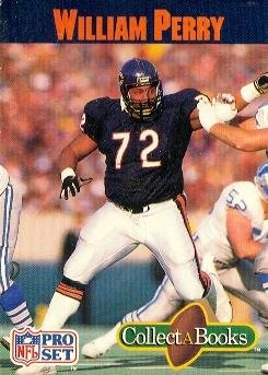 - William Perry Football Card (Chicago Bears) 1990 Pro Set CollectABooks