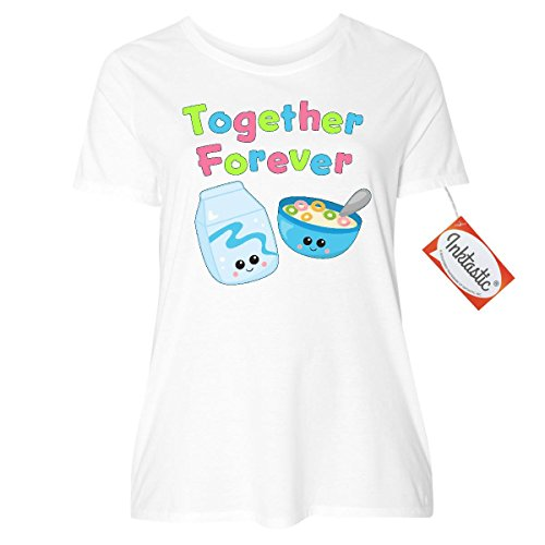 inktastic-together-forever-milk-and-cereal-womens-plus-size-t-shirt-1-14-16-white