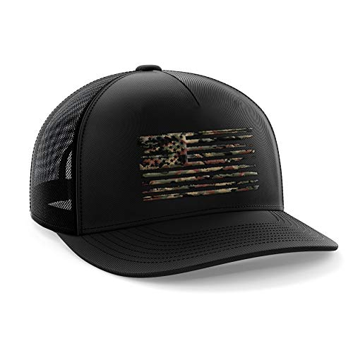 - Tactical Pro Supply Camo American Flag Military Snapback Hat