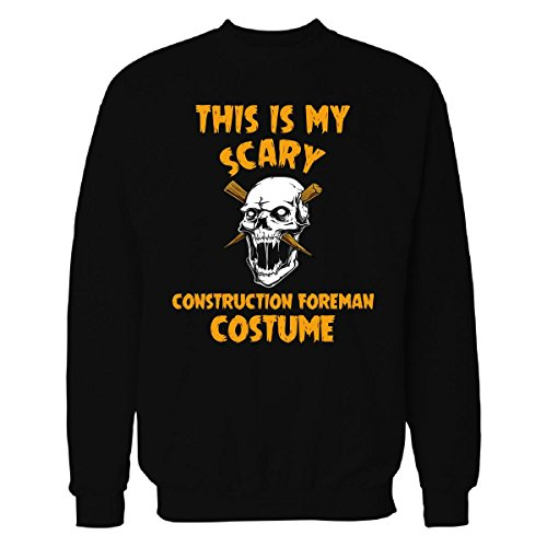 Construction Foreman Costume (This Is My Scary Construction Foreman Costume Halloween - Sweatshirt Black 4XL)