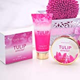 Home Spa Gift Basket: Body & Earth Tulip Scent Bath Set Luxurious Bath Set Includes Bubble Bath, Shower Gel, Milk Body Butter & Lotion and More, Perfect Bath and Body Gift Set for Women