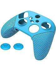 H HILABEE Tumstift Joystick Grip Cap Högre Stick Skydd för Xbox Series S X, Röd – Blå