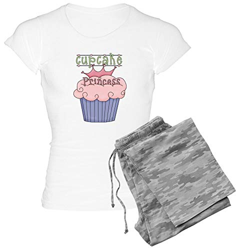 CafePress Cupcake Princess Womens Novelty Cotton Pajama Set, Comfortable PJ Sleepwear