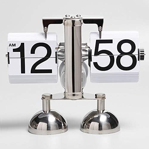 素晴らしいターンクロックメタルレトロなクロックスタディリビングルームスタディクリエイティブクロックノルディック芸術的なバランスの取れた時計 - ホワイト 作りがいい