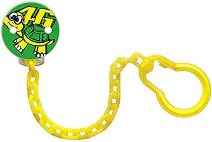 Clip cadena para 2 chupetes niño Kid VR46 Valentino Rossi Tarta ...
