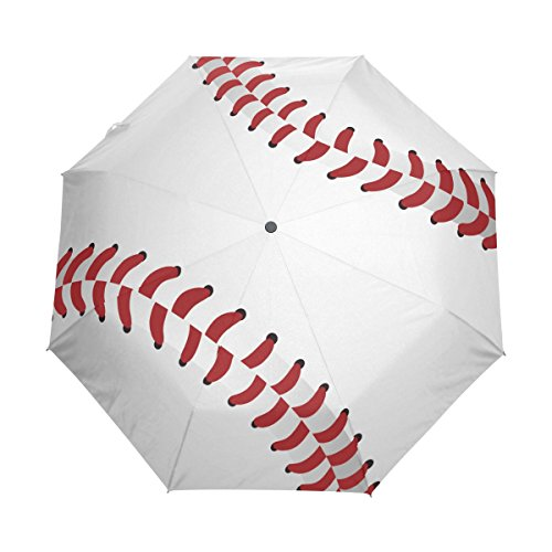 Naanle Baseball Close Up Auto Open Close Foldable Windproof Travel Umbrella Kids