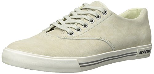 SeaVees Men's Hermosa Plimsoll Riv Fashion Sneaker, Stone, 11 M US