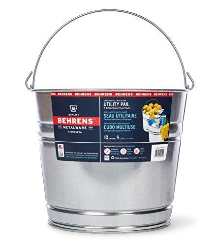 Galvanized Steel Buckets (Behrens 1210GS 10-Quart Galvanized Steel)