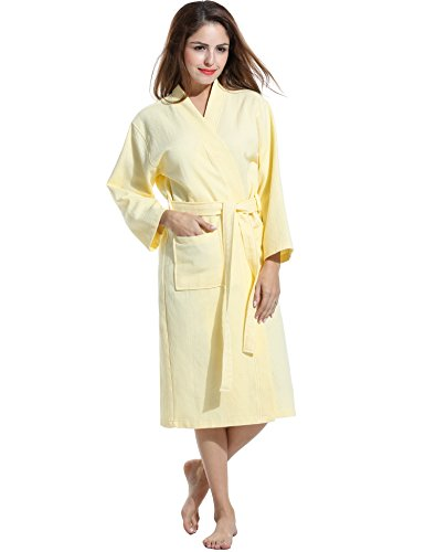 Avidlove Men Women Soft Waffle-Weave Bathrobe Kimono Spa ...