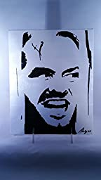 Duct Tape Art Piece of Jack Nicholson in The Shining