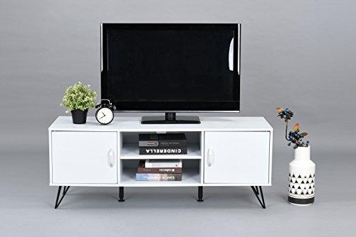 white metal tv stand - 4