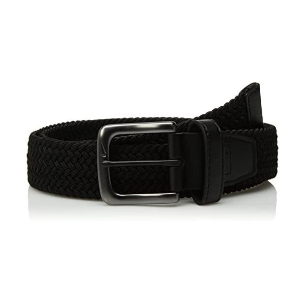 Nike Men's G-Flex Woven Stretch Golf Belt, black, Medium