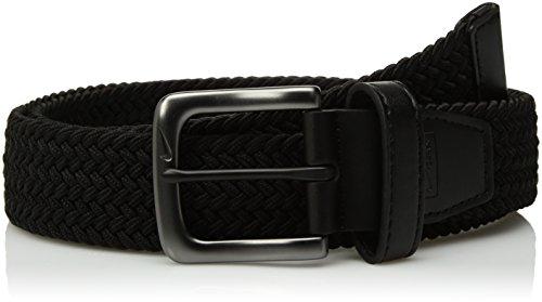 Nike Men's G-Flex Woven Stretch Golf Belt, black, Medium (Nike Black Belt)