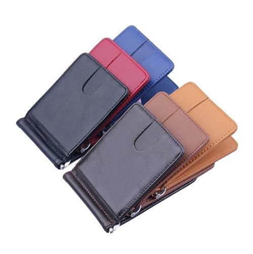 Uomo Carte Carta E Pu Patente Per Portafogli rfid Anti Portafoglio Credito Rimovibile Con Porta Moneta Di Pelle D'identità Guida RdS6nSzq
