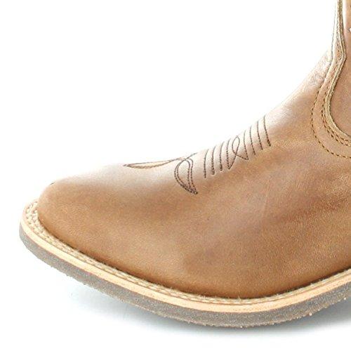 Sendra Boots 11615 Evolution Tang Lederstiefel für Damen und Herren Braun Westernreitstiefel Olimpia 023