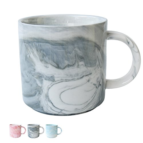 e Mug, Grey Marble Cup for Men, Boys, Husband, Dad, Grandpa, 13 Ounce/380 Milliliters, 1 Pack ()