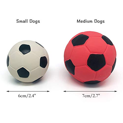 Chiwava 4 Pack 2.4 Squeak Latex Puppy Dog Toy Ball Sports Balls Sets Fetch Interactive Toy for Small Dogs