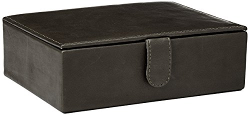 Piel Leather Large Leather Gift Box Blk, Black